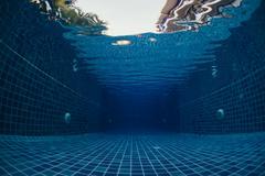 Underwater shot of the swimming pool Stock Photos