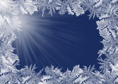 Winter frosty border Stock Illustration
