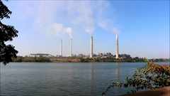 Thermal power plant Stock Footage