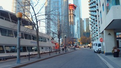 Commercial docks at Downtown Toronto Stock Footage