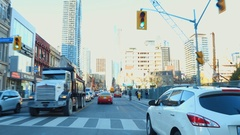 Cycling through Toronto Canada Stock Footage