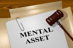 Mental Asset - legal concept Stock Illustration