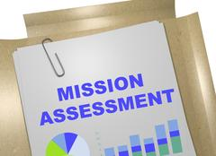 Mission Assessment concept Stock Illustration