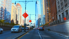Driving in NewYork Stock Footage