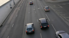 Timelapse. Rapid movement of cars on city streets Stock Footage