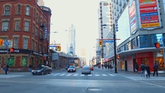 Downtown Toronto Yonge Street Stock Footage