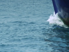 Boat sails away from the pier. Ship leaves Port. Yacht club, port Stock Footage