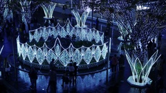 Time-lapse clip of Christmas illumination in Fukuoka, Japan Stock Footage