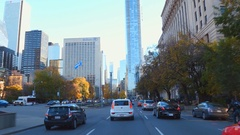Driving on University Avenue to Downtown Toronto Stock Footage