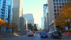 Driving on University Avenue Toronto Stock Footage