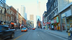 Driving through Toronto Canada 4k Stock Footage