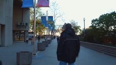 Harbor Square Park Toronto Canada Stock Footage