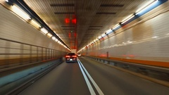 Holland tunnel drive through Stock Footage