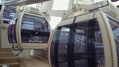 Skywheel Niagara Falls 4k video Stock Footage
