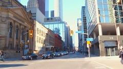 Driving Yonge Street Toronto Stock Footage