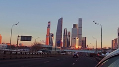 "MOSCOW, RUSSIA -. Modern reflective business district ""Moscow Stock Footage"