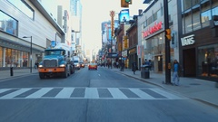 Yonge Dundas Square Stock Footage