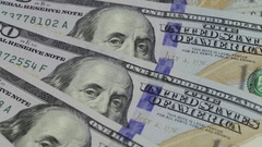 Rotation paper money . Background with money american hundred dollar bills Stock Footage