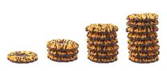 Stack of cookies isolated over the white background Stock Photos