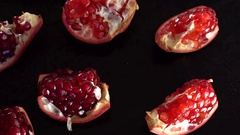 Rotating ripe red garnet closeup. Stock Footage