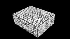 Login Password Secrets Hidden in a Digital Box Stock Footage