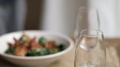 Serving red wine Stock Footage