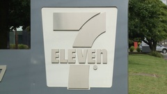 7-Eleven (711) Corporate Sign Stock Footage