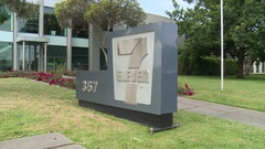 7-Eleven (711) Head Office Sign (Tilt) Stock Footage