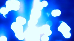 Smooth sun reflections on water colored in dark blue Stock Footage