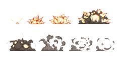 Explosion Animation Icons Set Piirros