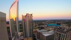 Charlotte city skyline north carolina sunset sunrise Arkistovideo