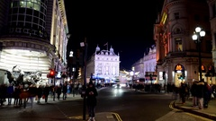 Christmas time in London 2016. Timelapse. Piccadilly Circus Stock Footage
