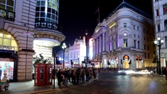 Christmas in London. Piccadilly Circus. Time lapse. Stock Footage