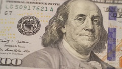 Close up portrait of one hundred dollars bill in 4K Stock Footage