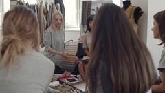Creative Female Team in Designer Studio Stock Footage