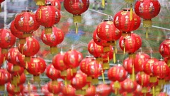 Chinese new year lanterns in chinatown. Arkistovideo