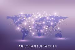 Geometric graphic background communication. Big data complex with compounds Stock Illustration