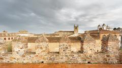 Cuenca vintage skyline with dark clouds Stock Photos