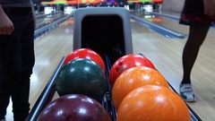 Automatic with bowling balls. Stock Footage
