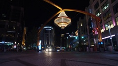 CLEVELAND - PLAYHOUSE SQUARE - CHANDELIER OVERHEAD - STREET VIEW Stock Footage