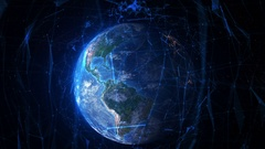 Connected Earth. Travel from New York to the space. Stock Footage