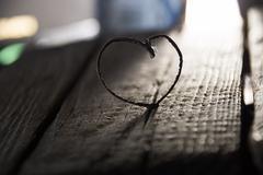 Valentine heart - love or wedding vintage card Stock Photos