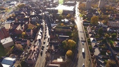 Tilting aerial view of Stourbridge ringroad. Stock Footage