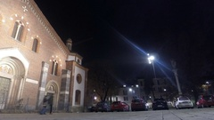 The Basilica of Sant'Eustorgio, Milan Italy Stock Footage
