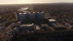 Queen Elizabeth Hospital, Birmingham, UK. Stock Footage