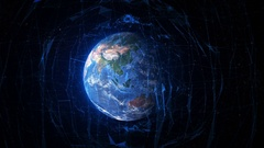 Travel to Earth.  Futuristic world network. Beijing. Stock Footage