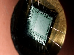 Integrated circuit rotating Stock Footage