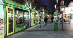 Melbourne, Swanston Street, Time Lapse Stock Footage