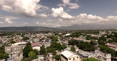 4k Flying towards Mountains in Jamaica Aerial-LUT Applied Stock Footage
