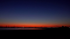 Melbourne, St Kilda Beach: Sunset Stock Footage